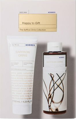 KORRES Saffron Orris Showergel 250ml & Saffron Orris Moisturizing Body Milk 125ml