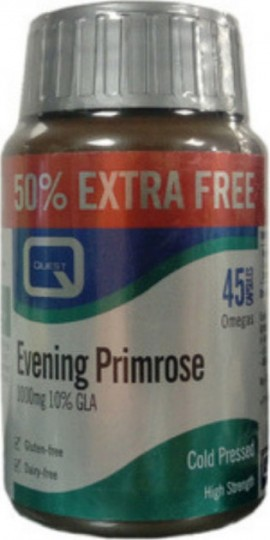 QUEST EVENING Primrose 30 + 15 1000mg 45 Κάψουλες