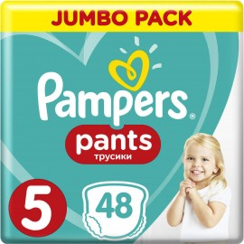 Pampers Jumbo Pack Pantalones No 5 (12-17kg) 48pcs