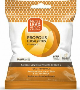 NUTRALEAD Cough Candies Propolis Eucalyptus Vitamin C Orange 40gr