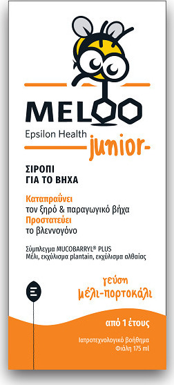EPSILON HEALTH Meloo Junior Honey & Orange 175ml