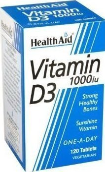 HEALTH AID Vitamin D3 1000iu 120 ταμπλέτες