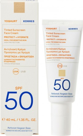 KORRES Yoghurt Tinted Sunscreen SPF50 40ml