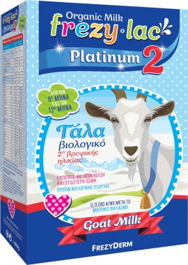 FREZYDERM Frezylac Platinum 2 Organic Goat Milk 2nd Infant From The 6th To The 12th Month 400g