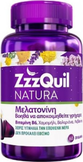 ZZZQUIL Natura Nutritional Supplement with Melatonin 60 jellies