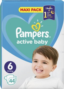 Pampers Active Baby No 6 (13-18kg) 44τμχ