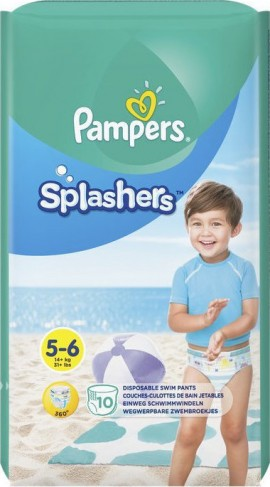 PAMPERS Splashers No 5-6 (14kg+) 10τμχ