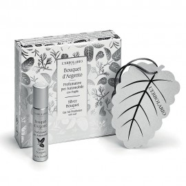 L Erbolario Car Air Freshener with Leaf Silver Bouquet- 10ml