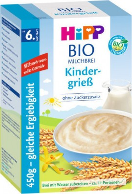 HIPP Cereal Cream with Milk and Semolina 450gr