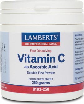 LAMBERTS Vitamin C as Ascorbic Acid 250gr